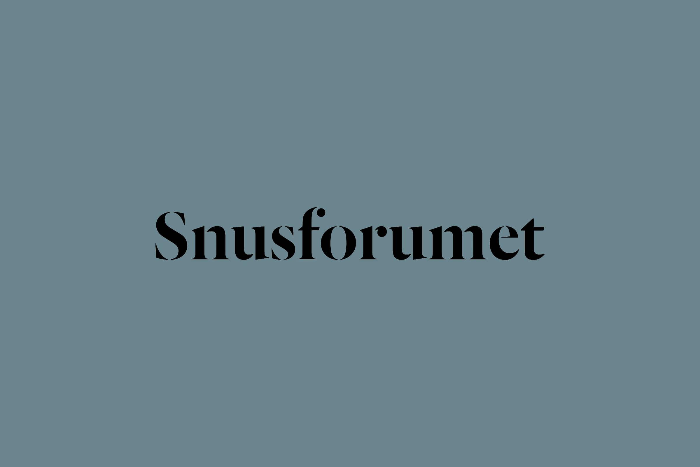 Snusforumets nya logotyp